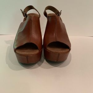 Kork-Ease Leather Wedges - Gently Worn Once